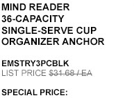Mind Reader 36-Capacity Single-serve Cup Organizer Anchor