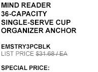 Mind Reader 36-Capacity Single-serve Cup Organizer Anchor