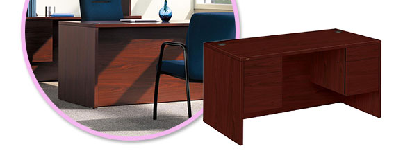 Lorell 10500 Series Double Pedestal Desk