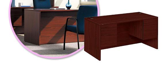 Lorell 10500 Series Double Pedestal Desk