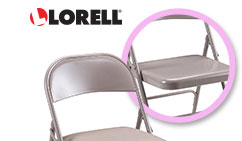 Lorell Steel Folding Chair